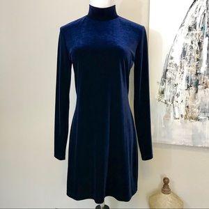 Sapphire Blue Velvet Mini Dress 00371